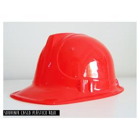 Casco Plástico Rojo Cotillon Sin Etiqueta (x Mayor)