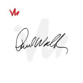 Adesivo Assinatura Paul Walker Carro Automotivo Rebaixado