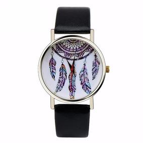 Relógio Ladies Quarzt Moda Dreamcatcher Preto