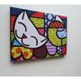 Romero Britto Quadro Sala Quarto 60x80cm- The Happy Cat