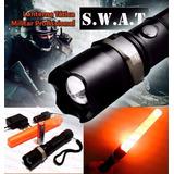 Kit Lanterna Tática Militar Profissional Swat Recarregável
