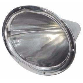 Cone Jarrão De Rosca - Alumínio Polido C/ Boca Oval