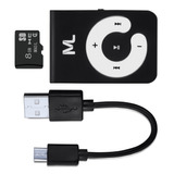 Kit Mp3 Player 80 Mah Microsd 8gb E Cabo Micro Usb