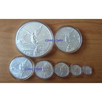 Coleccion 7 Monedas Plata Libertad 2017 Nuevas Encapsuladas