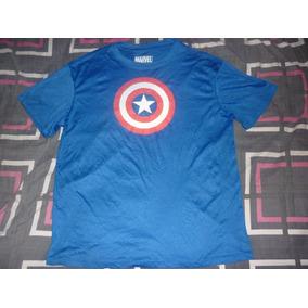 E Remera De Capitan American Marvel Art 2282