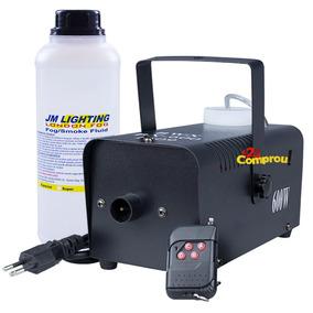 Kit Máquina De Fumaça Controle Sem Fio 600w Dmx + Líquido