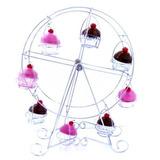 10 Suportes Mesa Cupcake Formato De Roda Gigante Provençal