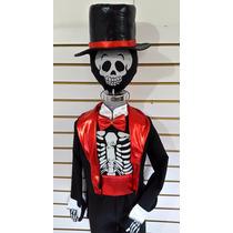 Disfraz Catrin Esqueleto Calaca Calavera Disfraces Halloween