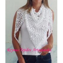 Chal De Hilo Al Crochet - Reynas Tejidos Artesanales