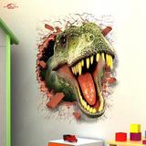 3d Wall Sticker Adesivo 3d Piso Parede Dinossauro T-rex