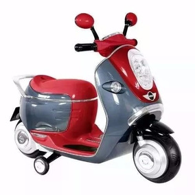 Moto Scooter Mini Cooper Prinsel Para Niños Con Luces 6v