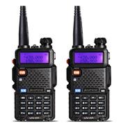 Kit 2 Rádio Ht Comunicador Baofeng Dual Band  Hhf + Vhf Uv5r