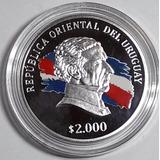 2015 2000 Pesos Moneda De Plata De Uruguay Artigas