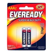Blister 2 Pilas Zinc Carbon Eveready Aaa Super Heavy Duty