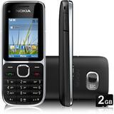 Celular Nokia C2-01 Preto C/ Câm 3.2mp,3g, Fm,mp3,bluetooth