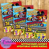 Kit Imprimible Mickey Aventuras Sobre Ruedas Personalizado