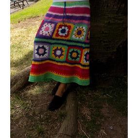 Tejidos Crochet Pollera Combinada Hilo