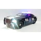Dodge Charger Patrulla Policia Federal Cns Con Luz 1:24