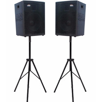 Par Caixas Acústicas Ativa + Passiva 550w 1x12 Falante Jbl