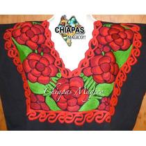 Blusas De Chiapas Bordadas A Máquina / Talla S / Zinacantán
