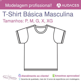 Molde T-shirt manga Curta Masculina Adulta P-m-g-gg-xxg Pdf 095373e59f8