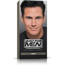 Colorante Shampoo Just For Men Cubre Canas Color Negro Pelo