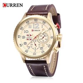 Curren 8179 Relógio Luminous Pulseira De Couro 3atm