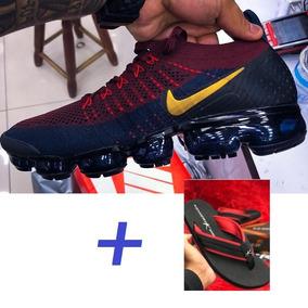 Tenis Nike Vapormax 2 Flyknit Vinho Azul Vermelho + Kenner !