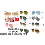 73d22c0ad8 Oculos De Sol Ray Ban Aviador Lente Cristal Atacado Revenda