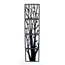 Set X4 Paneles Decorativos Árbol Black Morph