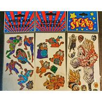 Stikers Hombre Araña, Dragon Ball Y Garfield