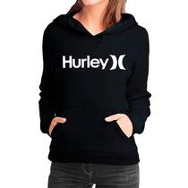 Moletom Hurley Feminino Casaco Canguru Blusa De Frio Moleton