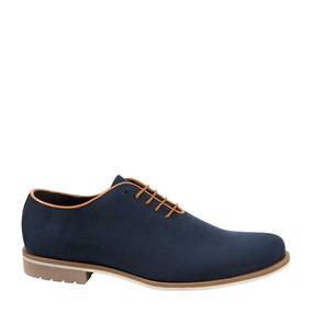 Zapato Casual Sagezza Color Azul Sintetico Cb262