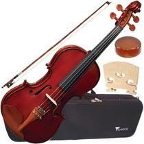 Violino 4/4 Microafinador + Case Luxo Ve441 Eagle Envio 24h