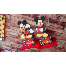 Centros De Mesa Mickey Minnie 20cm X 3 Unidades