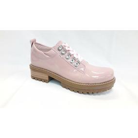 Zapato Acordonado Charol Dama