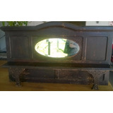 Antigua Repisa Roble Para Mueble Antiguo Con Espejo