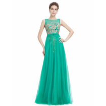 Últimas Peças-vestido De Festa Verde Tiffany Citrico-liquida