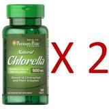 Natural Chlorella 500 Mg 120 Tabletas Alga Marina Spirulina