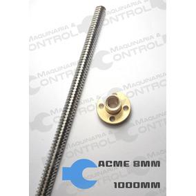 Husillo Cuerda Cuadrada C/2tuercas L=1mt Cnc Reprap Acme