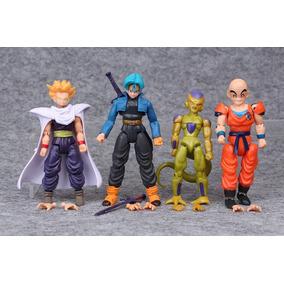4 Boneco Articulados Dragon Ball Gohan Trunks Freeza Kurilin