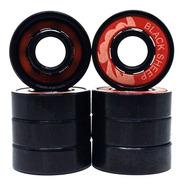 Rolamentos Skate Longboards Patins Black Sheep Red Black