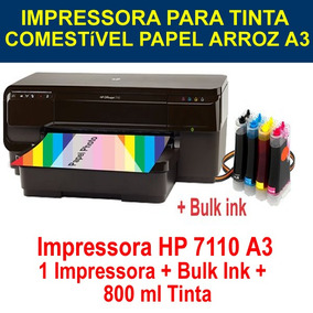 Impressora Para Papel Arroz Hp 7110 A3 E A4 Wifi E Bulk Ink