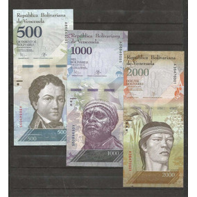 C. 3 Billetes De Venezuela Actuales