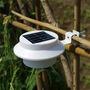 Luminária Solar 3 Led Jardim Spot Refletor Luz Branca