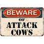 Cuidado Con El Ataque De Las Vacas Vintage Lo + Envio Gratis