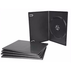 Caja Porta Cd Dvd Bluray Negra Simple Belgrano Con Yapa!!!