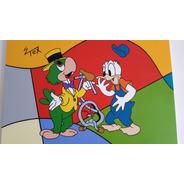 Quadro Donald Review - Tela 60x80cm - Pintura Acrílica