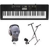 Piano Casio Ctk-2400 61-keyheadphones, Stand And Power Sup