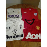 Lote Camisetas Realmadrid/manchesteru/ingaterra/tottenham